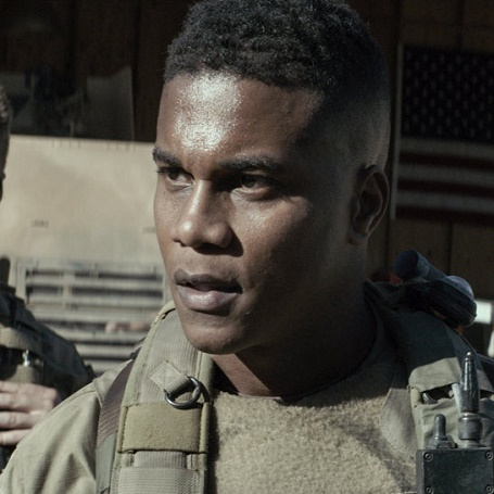 Cory Hardrict  in American sniper movie as Dandidge.