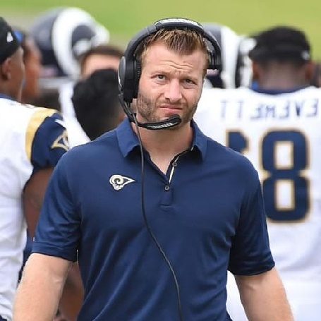 Sean McVay boyfriedn of Veronika and the head coach fro for Los Angeles Rams of the National Football League.