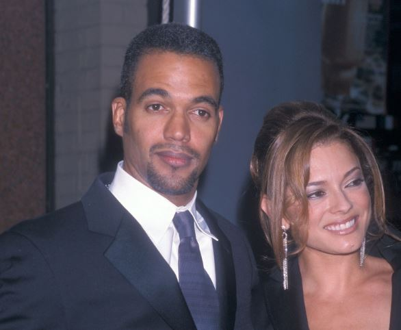 Actor Kristoff St. John andAllana Nadal attend the 28th Annual Daytime Emmy Awards on May 18, 2001