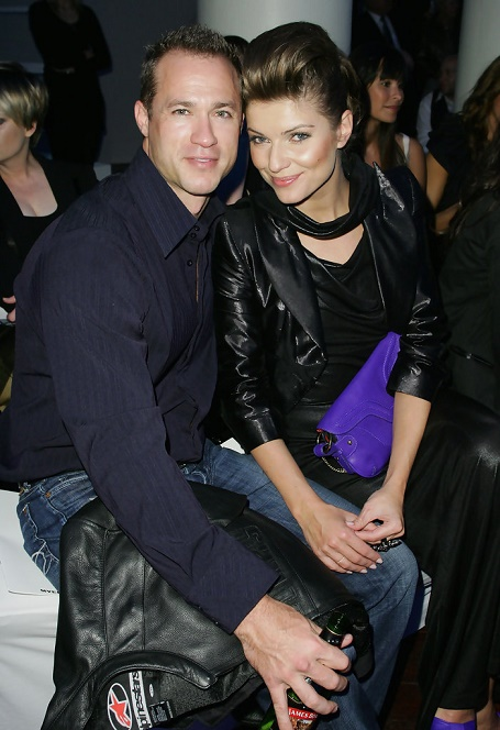 Ivana Milicevic with her ex-husband Adrian Hunter from (2007 to 2009).