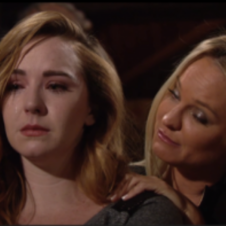 Camryn Grimes as Mariah Copeland in the T.V. series 'The Young and the Restless' alongside 'Sharon Case'