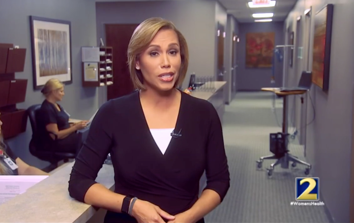 Jovita moore in 2 channel anchoring 'Action News'