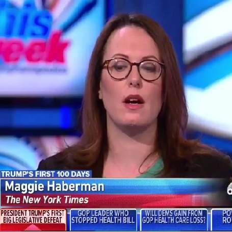 The news reporter of New York Daily News Maggie Haberman.