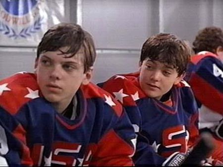 LaRusso as Adam Banks(Left) in Th Mighty DucksImage Source: Pinterest