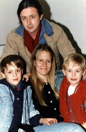 Culkin with his long-time partner Patricia and sons Macaulay and KeirenImage Source: Courier Mail